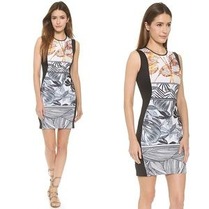 New Clover Canyon Gold Leaf Dress Neoprene Scuba